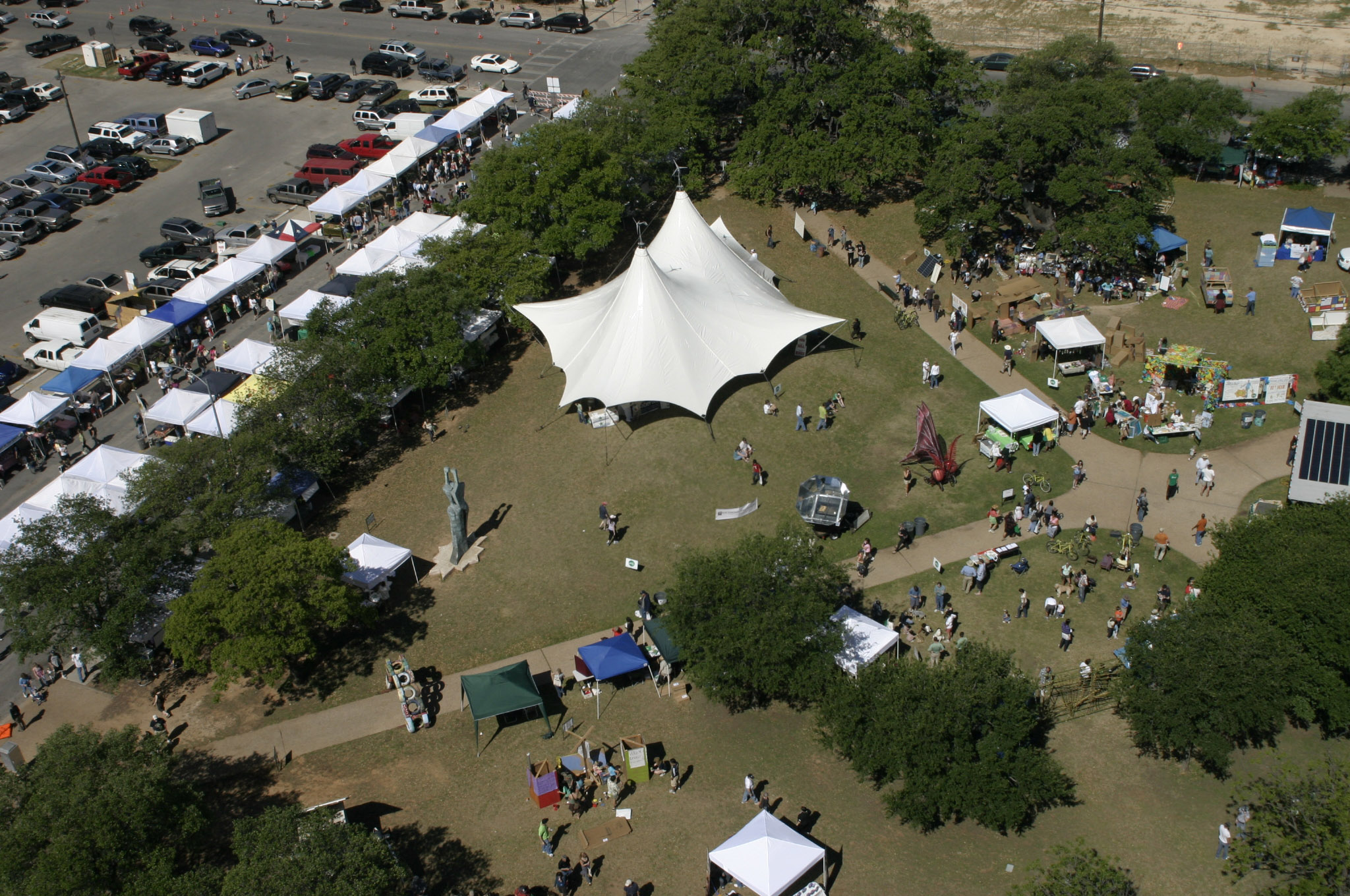 Largest two-cone tent in Austin, Tx