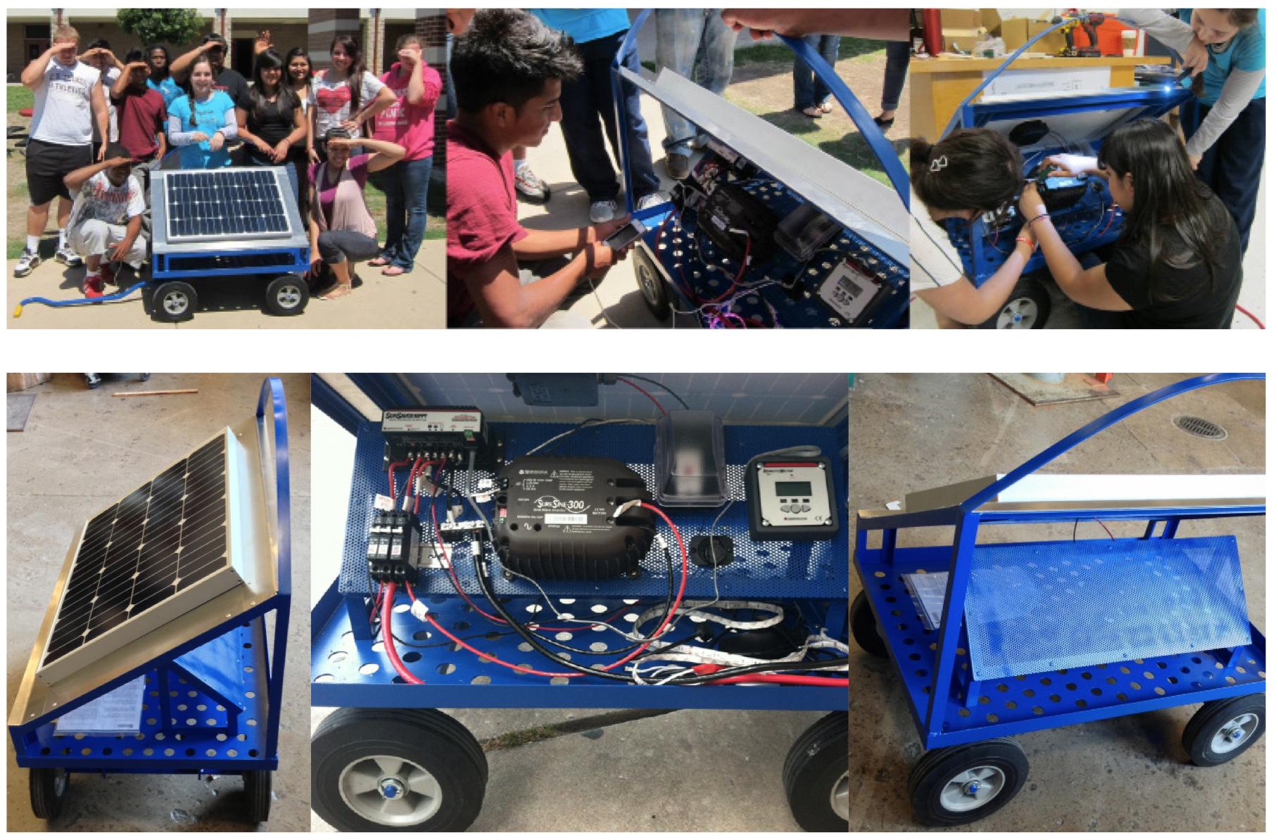 Sol Design Lab, Solar Wagon, DIY energy system: Instructables.com, 2014